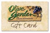 7.72 OLIVE GARDEN GIFT CARD